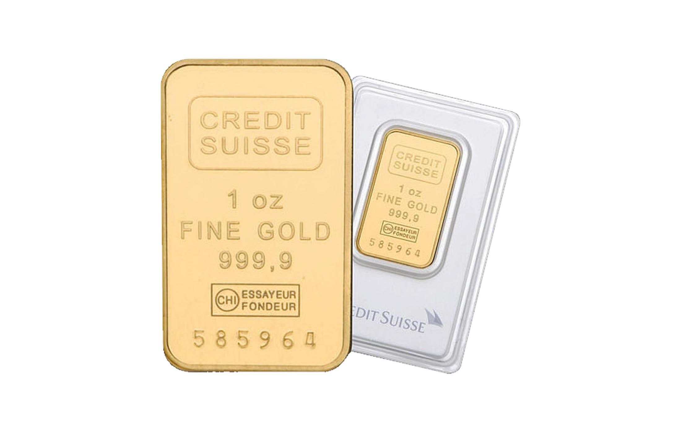 Credit Swiss 24 Karat 1 Oz Gold Bar